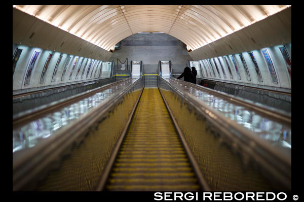 One of the Prague subway tunnels. The Prague metro