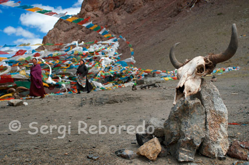Step Nagenla located 5190 meters from where it descends to the lake located at 4700m.